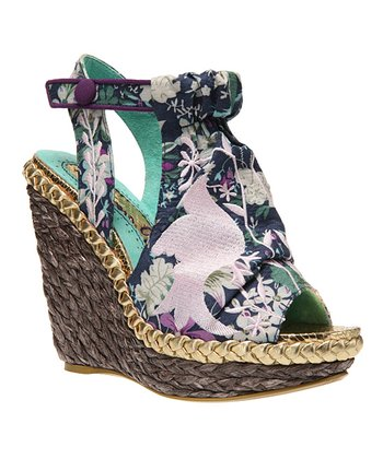 Purple Kupcake Wedge Sandal