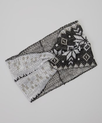 Black & Ivory Nordic Head Wrap