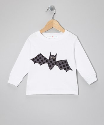 White Bat Long-Sleeve Tee - Toddler & Kids