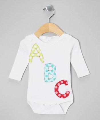 White 'ABC' Bodysuit- Infant