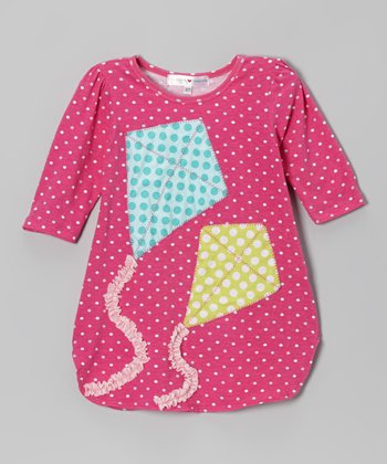 Pink Polka Dot Kites Dress - Toddler & Girls