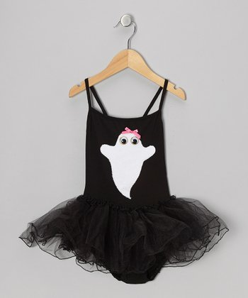 Black & White Ghost Tutu Leotard - Toddler & Girls