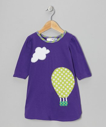 Purple & Lime Hot Air Balloon Dress - Toddler & Girls