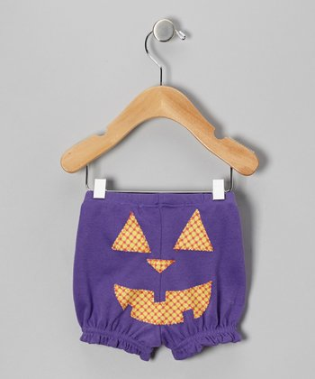 Purple Jack-o'-Lantern Bloomers - Infant