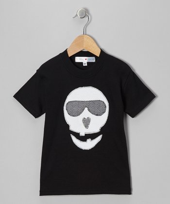 Black Skeleton Tee - Infant, Toddler & Kids