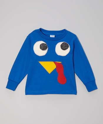 Royal Blue Turkey Face Tee - Toddler & Kids