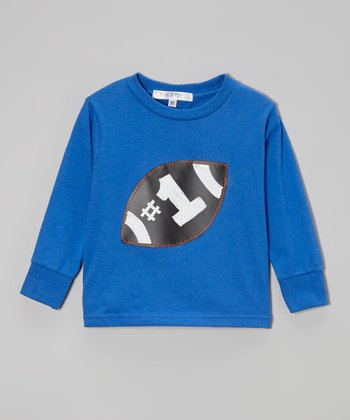 Royal Blue Chalkboard Football Tee - Toddler & Boys