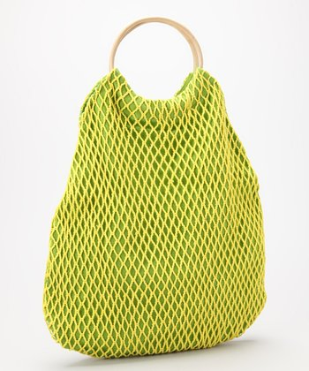 Lime & Lemon Wood Ring Tote