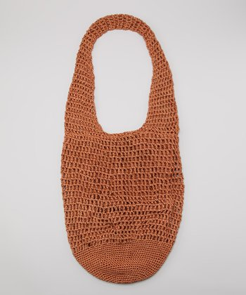Rust Crocheted Tote
