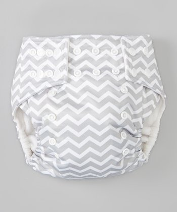 Gray Zigzag Pocket Diaper
