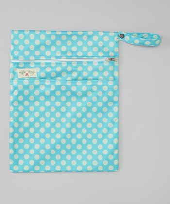Blue Polka Dot Wet Bag