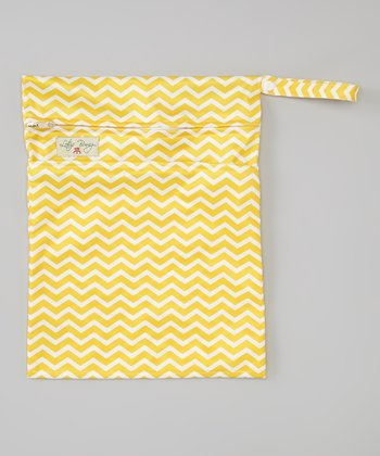 Yellow Zigzag Wet Bag