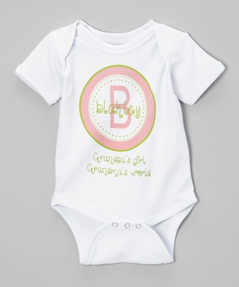 'Grandpa's Girl Grandma's World' Personalized Bodysuit