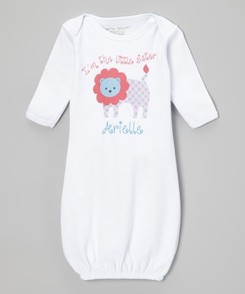 White Lion 'Little Sister' Personalized Gown - Infant