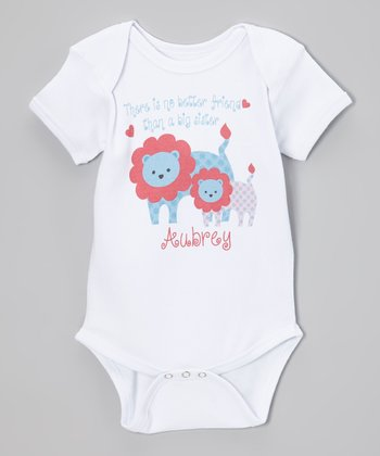 White Lion 'Big Sister' Personalized Bodysuit - Infant