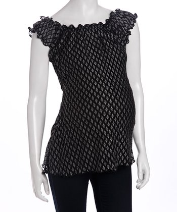 Black Polka Dot Betty Maternity Top