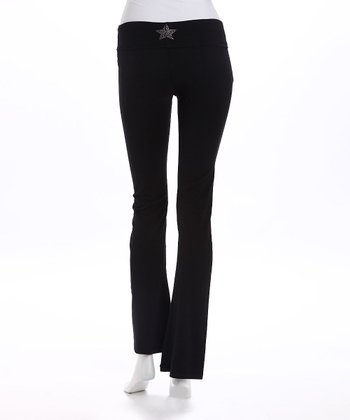 Black Star Plus-Size Maternity Yoga Pants