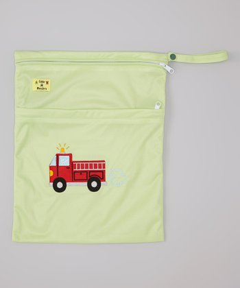 Green Fire Truck Wet Bag