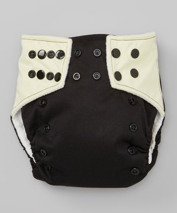 Black & Light Yellow Pocket Diaper