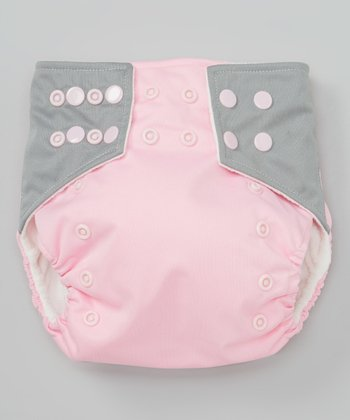 Pink & Gray Pocket Diaper