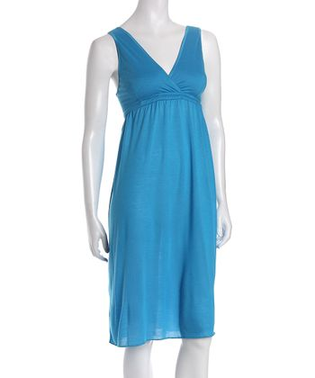 Amamante Turquoise Signature Nursing Nightgown - Women