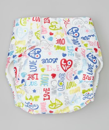 Blue 'Love' Pocket Diaper