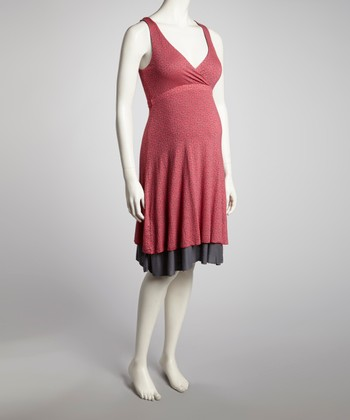 Coral Reversible Maternity & Nursing Dress - Women