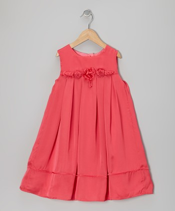 Watermelon Rosette Babydoll Dress - Toddler & Girls