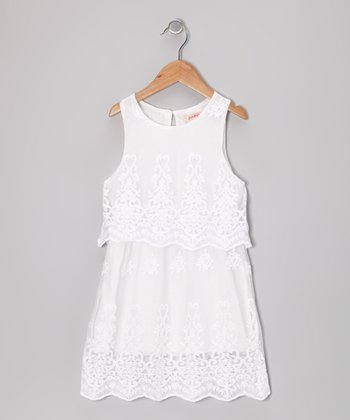 Ivory Lace Tiered Dress - Toddler