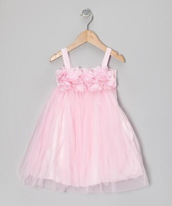 Pink Petal Tulle Babydoll Dress - Toddler & Girls