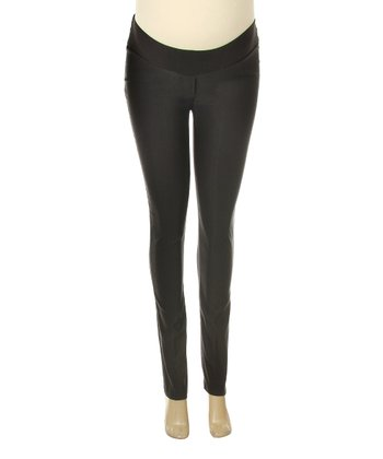 Black Under-Belly Maternity Skinny Pants