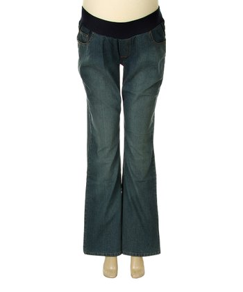QT Maternity Medium Wash Underbelly Maternity Flare Jeans