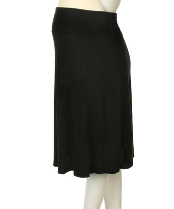 Black Maternity Skirt