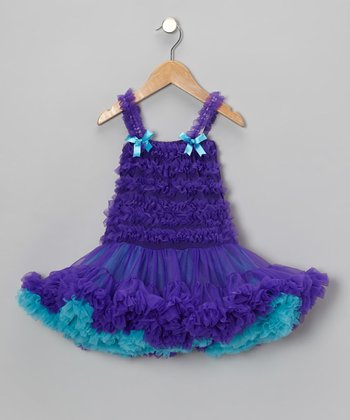 Purple Ruffle Pettidress - Girls