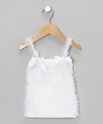 White Ruffle Top - Toddler & Girls