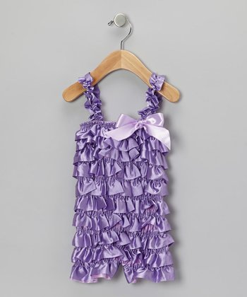 Purple Ruffle Romper - Infant & Toddler