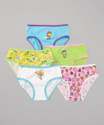 Blue & Green Candy Underwear Set - Girls
