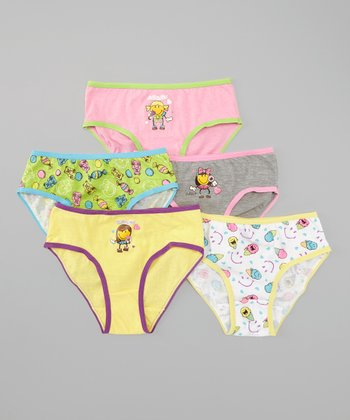 Pink & Green Ice Cream Underwear Set - Girls
