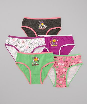Pink & Teal 'Fun' Underwear Set - Girls