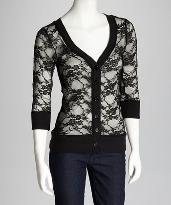 Black Lace Cardigan