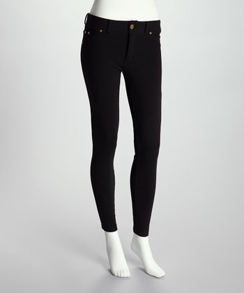 Black French Terry Jeggings