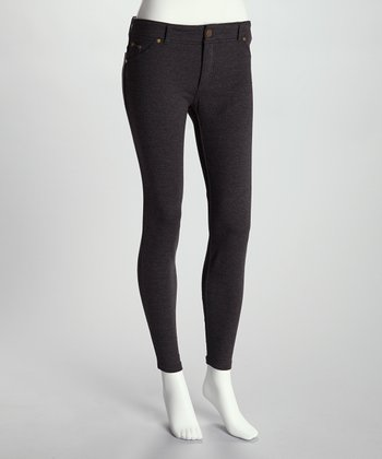 Charcoal Heather French Terry Jeggings