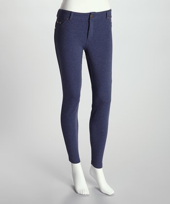 Denim Heather French Terry Jeggings