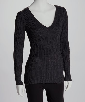 Charcoal V-Neck Sweater