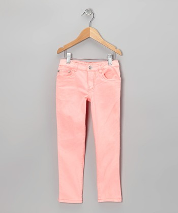 Coral Straight-Leg Jeans - Girls