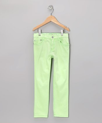 Lime Straight-Leg Jeans - Girls