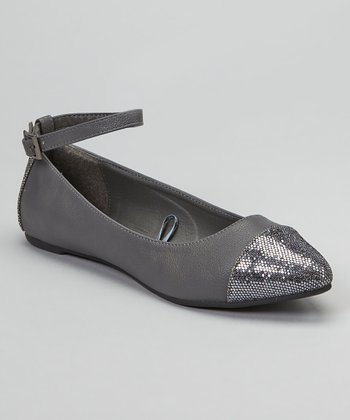 Gray Sparkle Honey Flat