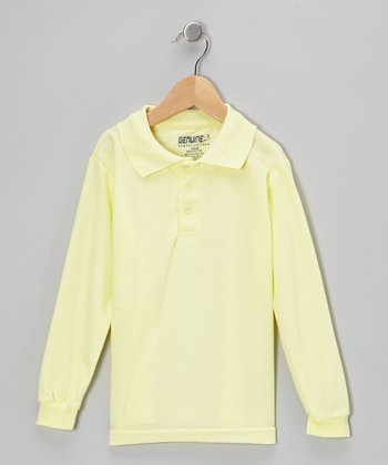 Yellow Long-Sleeve Polo - Boys