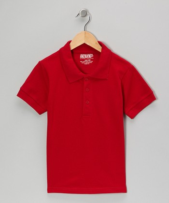 Red Short-Sleeve Polo - Boys