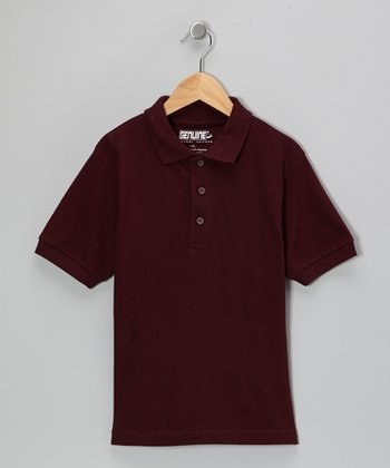 Plum Short-Sleeve Polo - Boys